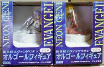 セガ 新世紀エヴァンゲリオン オルゴールフィギュア 全2種セット【未開封新品】