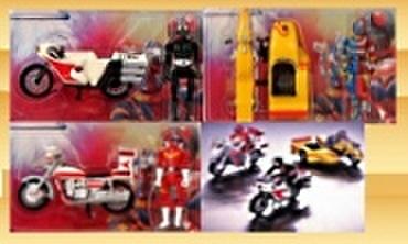 バンプレスト 東映特撮ヒーロー アクションフィギュア&バイク 全3種セット