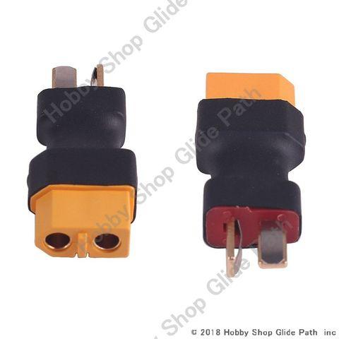 2個入り ディーンズタイプT型-XT60変換アダプター バッテリーのプラグ変換