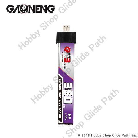 GNB 3.8V-380mAh 60/120C 1S Lipoバッテリー JST-PH2.0コネクタD