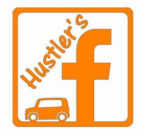 ハスラー Facebookグループ ロゴマークステッカー  中(12cm)