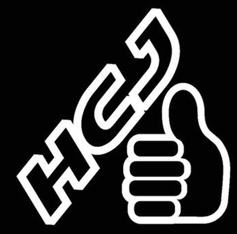ハスラークラブジャパンステッカー ハンドアイコンタイプ(HCJロゴ+グッドサイン)