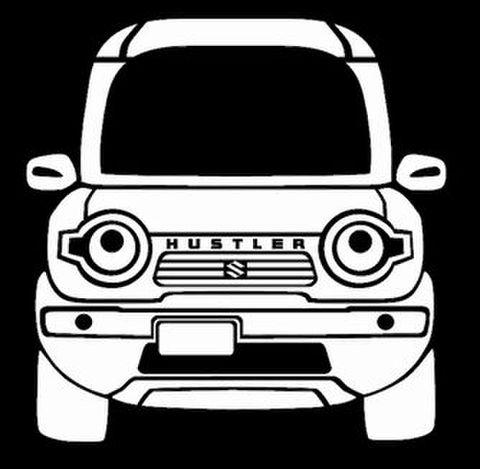【文字入り 大サイズ】ノーマル車高 ディフォルメステッカー JスタイルⅡ