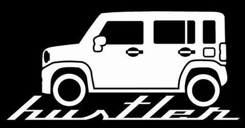 新型ハスラー シルエットステッカー(ノーマル サイド)