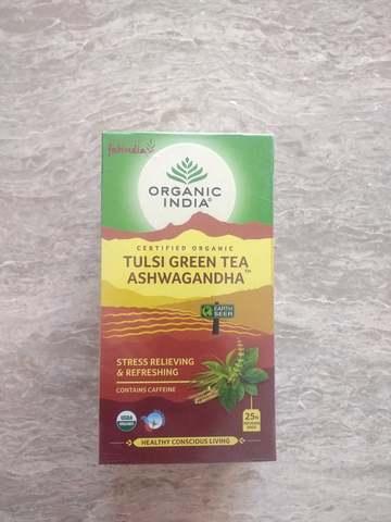 オーガニックトゥルシーアシュワガンダ緑茶25ティーバック