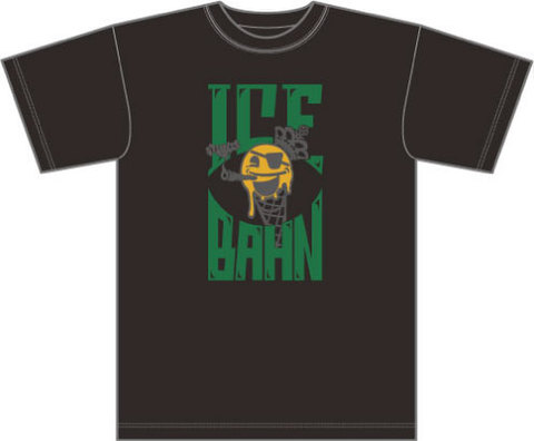 STUNTS × ICE BAHN tee -Black/Green-