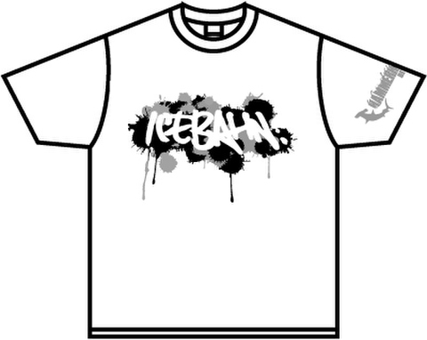 ICE BAHN tee -White/Black+Gray-