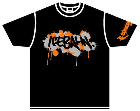 ICE BAHN tee -Black/Orange+Gray-