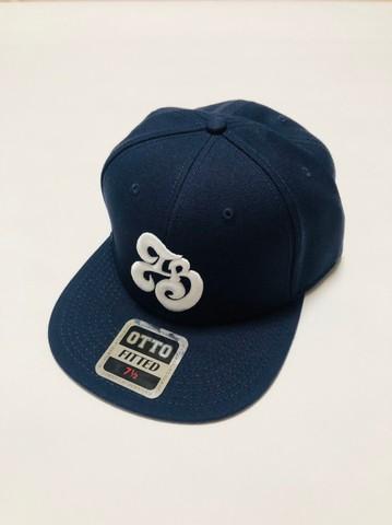 「IB×RHYME SAVER」Baseball Cap-ネイビーボディ-前白×後白