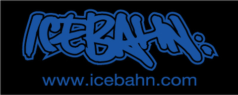 ICE BAHN TOWEL Black×Blue(FACE SIZE)