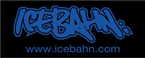 ICE BAHN TOWEL Black×Blue(FACE SIZE)