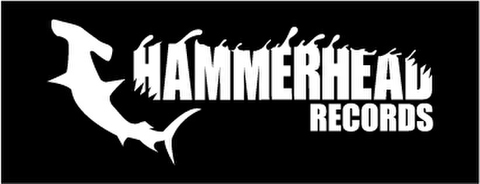 HAMMERHEAD sticker (Black×White)-Large-