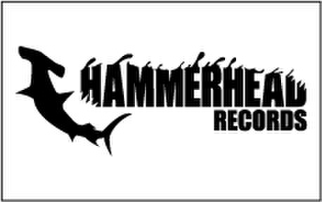 HAMMERHEAD sticker (White×Black)-Medium-