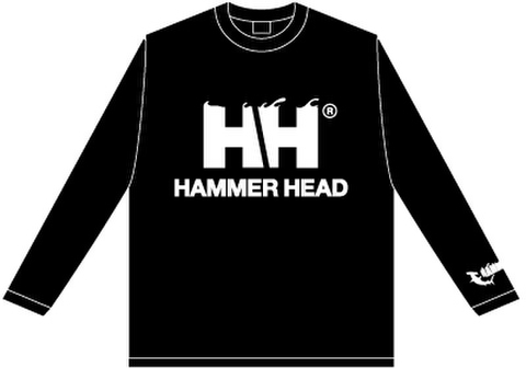 HAMMERHEAD Long tee -Black/White-