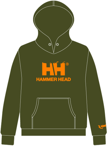 HAMMERHEAD Parka -Olive Green/Orange-