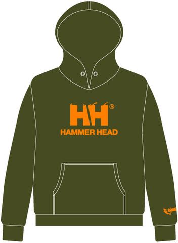 HAMMERHEAD Parka -Olive Green/Orange-