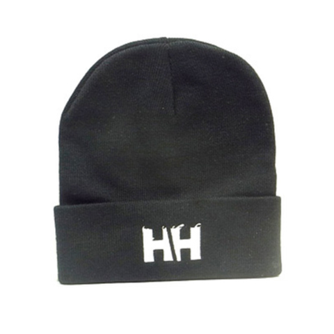 HAMMERHEAD KNIT CAP LONG -Black/White-
