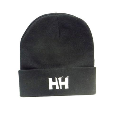 HAMMERHEAD KNIT CAP LONG -Black/White-