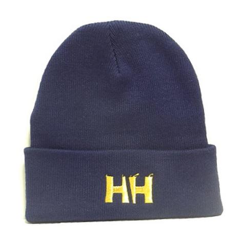 HAMMERHEAD KNIT CAP LONG -Navy/Gold-