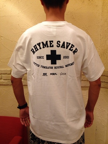 RHYME SAVER POCKET TEE -白