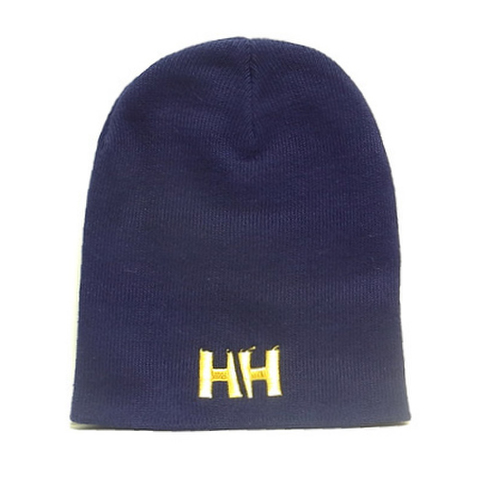 HAMMERHEAD KNIT CAP SHORT -Navy/Gold-