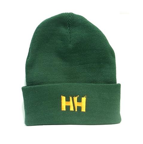 HAMMERHEAD KNIT CAP LONG -Green/Orange-