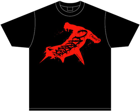 ICE BAHN × ORGANIZE tee -Black/Red-