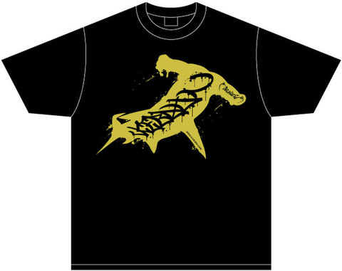 ICE BAHN × ORGANIZE tee -Black/Gold-