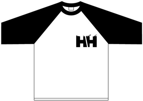HAMMERHEAD Raglan -Black+White/Black-