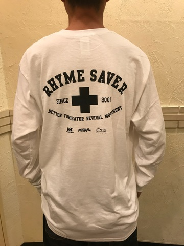 RHYME SAVER  Long Tee - 白