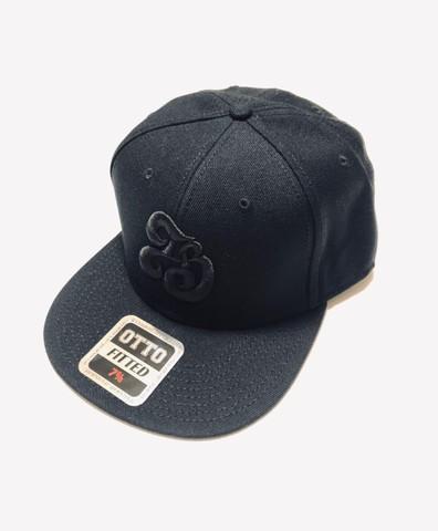 「IB×RHYME SAVER」Baseball Cap-ブラックボディ-前黒×後白