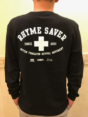 RHYME SAVER  Long Tee - 黒