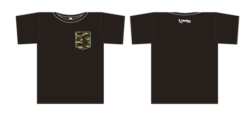 ICE BAHN POCKET tee-Black/迷彩