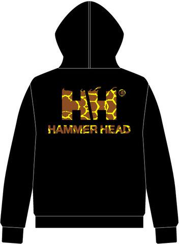 HAMMERHEAD Zip Parka -Black/Giraffe-