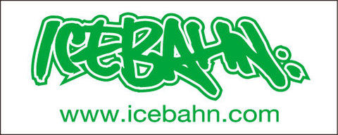 ICE BAHN TOWEL White×Green(Face Size)