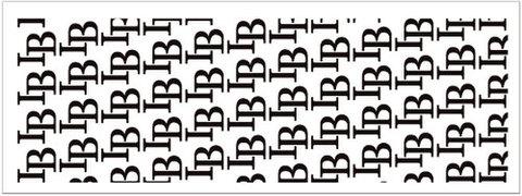 「IB」 LOGO TOWEL White×Black(Face Size)