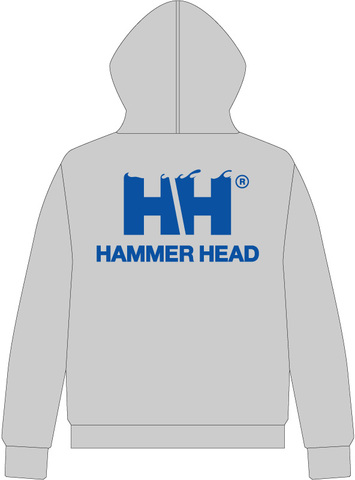 HAMMERHEAD Zip Parka -Gray/Blue-
