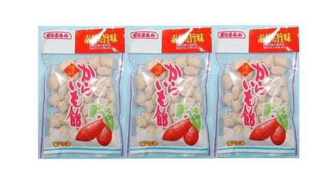 冨士屋製菓 昔ながらのパッケージ からいも飴 130グラム3袋セット
