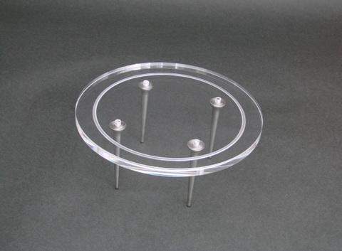 段重用・丸型アクリルプレート         180φ、ネジ穴付