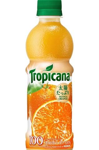 キリン トロピカーナ バレンシアオレンジ 100% 330ml