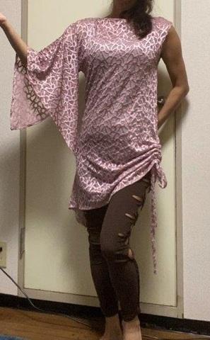 ワンピース型レッスン着☆モーブピンク