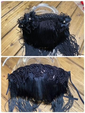 パフォーマンス用マスク:ブラックA・B(ノーズワイヤー入り)