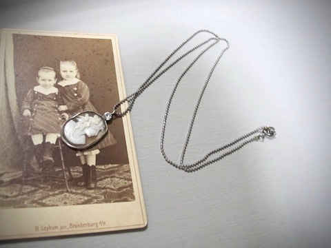 SV.925 シェルカメオ ネックレス