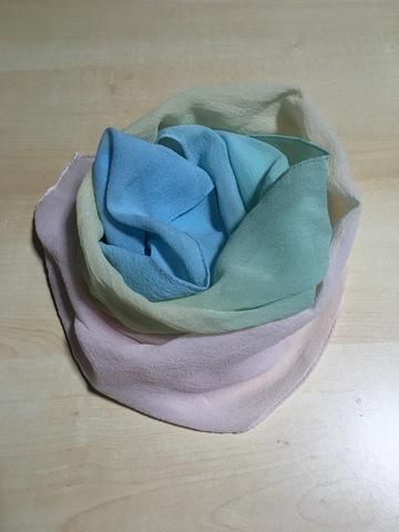 虹染め・シルクストール(35×145cm)