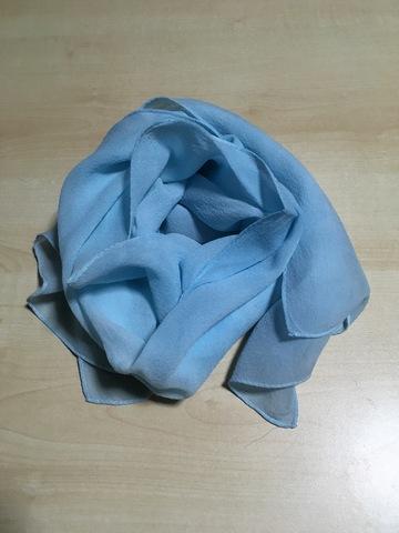藍染め・シルクストール(35×145cm)