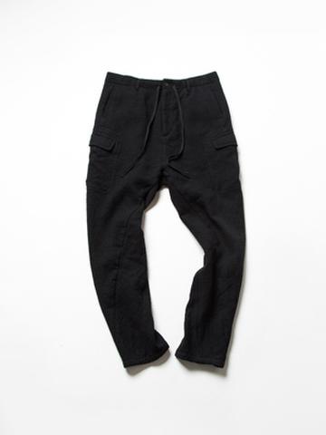 コットン/ウール二重織り サイドポケットパンツ
