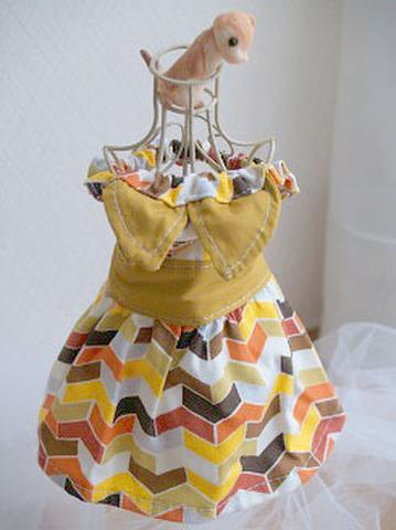 230 和のジグザグドレス