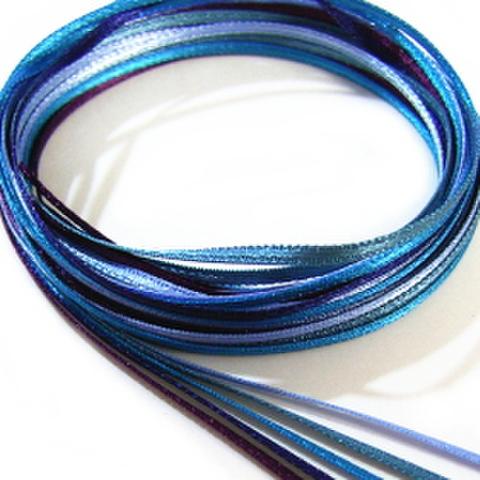 1.5ミリ幅サテンリボン【セット】(ブルー系)