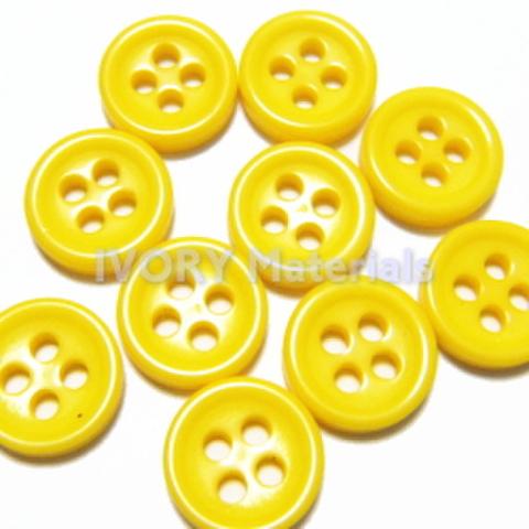 4つ穴ボタン8ミリ(黄色)