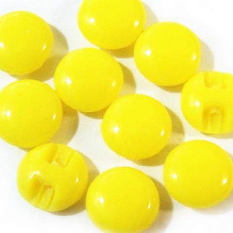 マーブルボタン・平丸8ミリ(黄色)